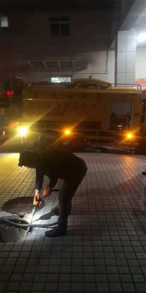 渭南某单位晚上管道抢修