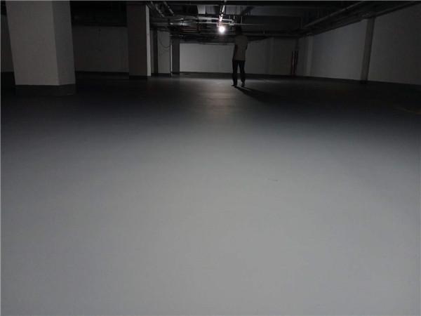 神木市滨河新区派出所地下停车场水性环氧加哑光罩面项目