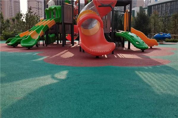 榆林市榆溪生态长廊公园N5标,儿童乐园EPDM项目