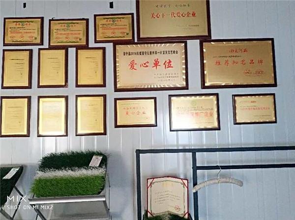 榆林塑胶地板企业荣誉墙