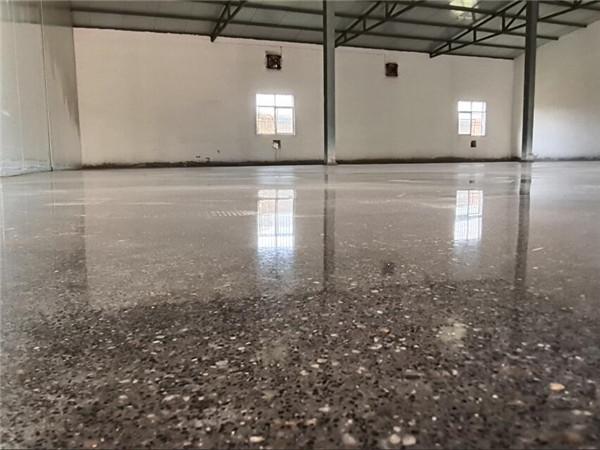 渭南市利君现代中药,本色固化地坪项目