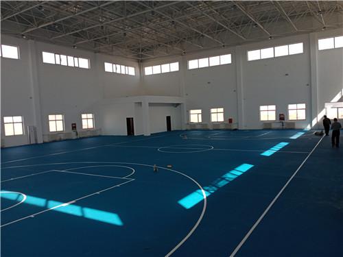 中国兰州石化榆林石化有限公司,室内丙烯酸篮球场项目