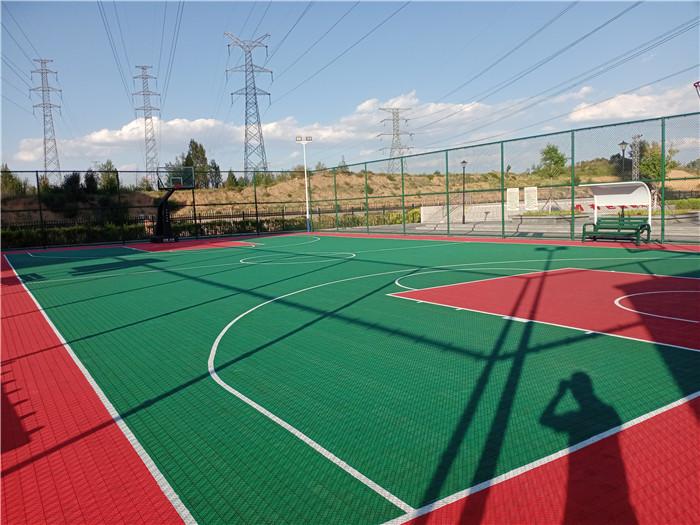 陕西有色榆林产业园铁路运销公司篮球场悬浮地板项目
