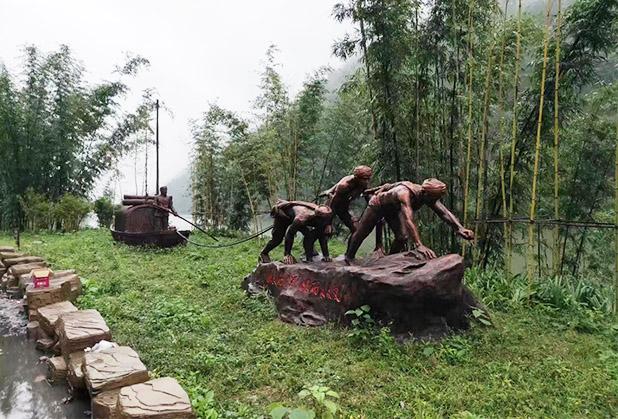 成都景区仿铜雕塑