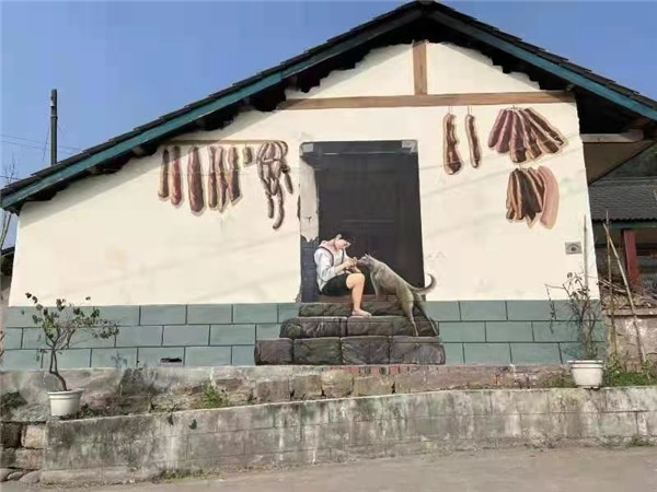 四川墙体彩绘