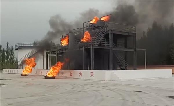 青海某消防训练基地 模拟化工火灾消防训练点火