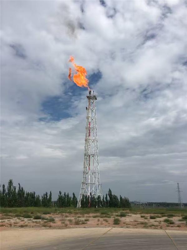 陕北某天然气分输站火炬放散点火