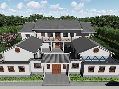 轻钢四合院别墅设计