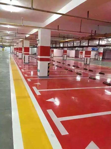 商场地下车库划线
