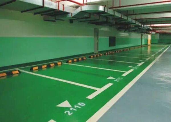 地下停车场停车位划线的尺寸一般在多少?