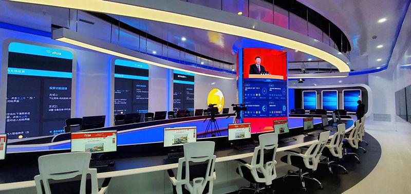 辽宁电视台p1.875-30平LED显示屏案例展示
