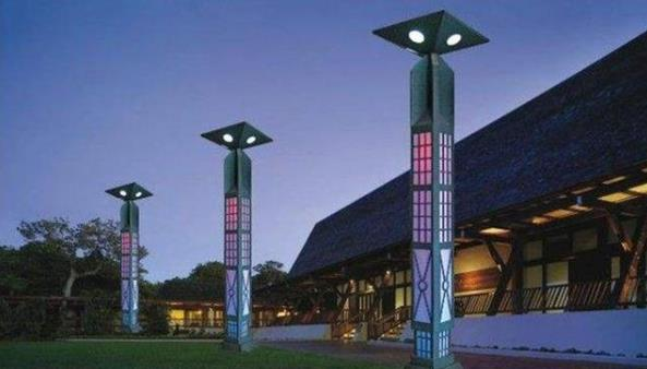 景觀燈與歷史人文的融合,照明工程的靈活性在于新中式照明工程的設計方案