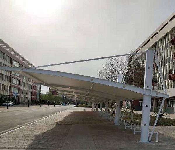 内蒙学校膜结构停车棚