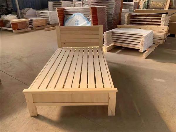 实木单层床加工
