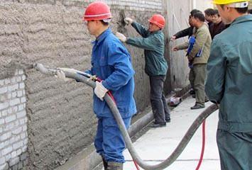 西安干拌砂浆施工案例