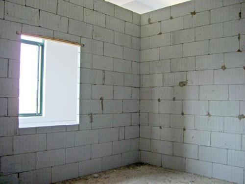 西安加气块隔墙施工案例