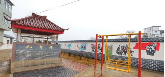 江西彭泽黄花墩社区的美丽蝶变之外墙喷绘