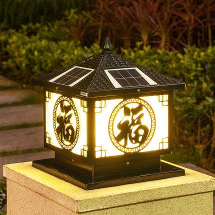 太阳能大门柱头灯