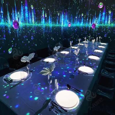 沉浸式餐饮装饰  数字化逐步进入娱乐休闲场地