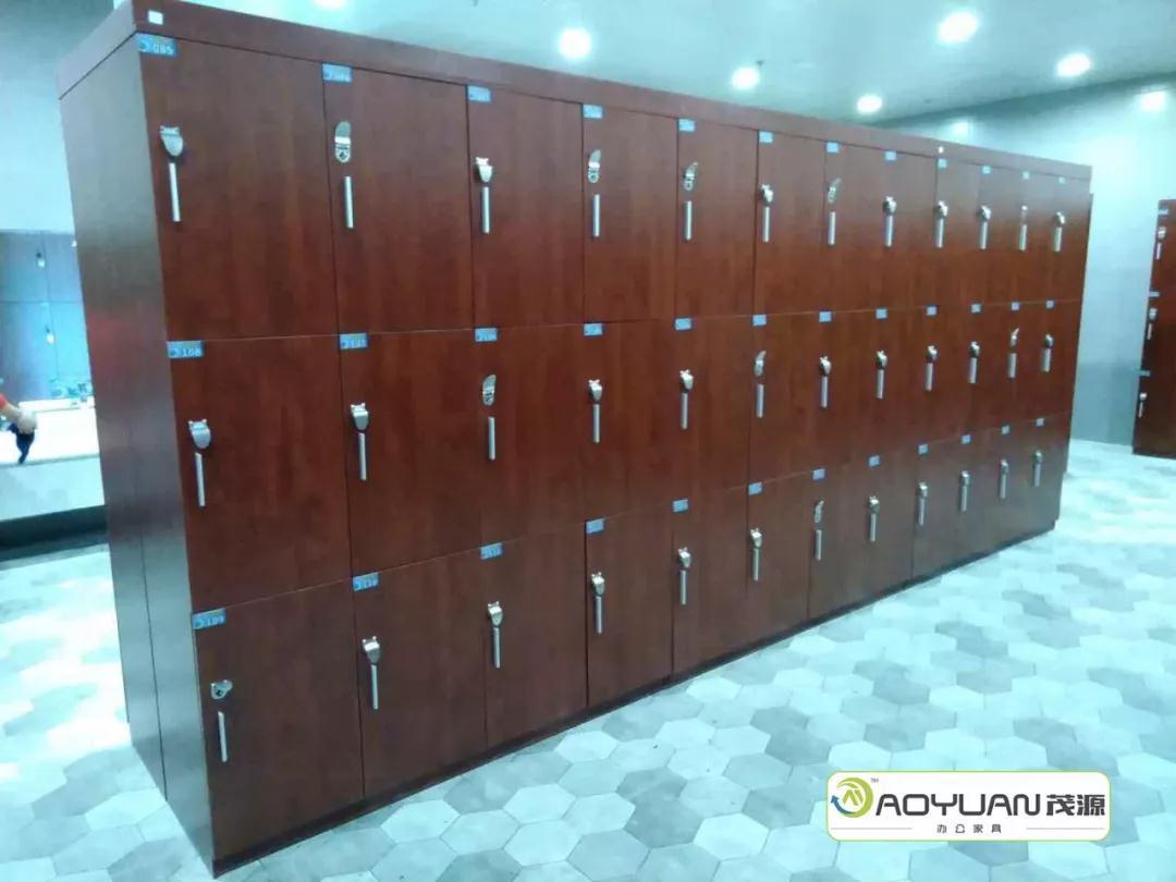 成都办公家具案例展示--郫都区堡格莱斯健身会所浴室更衣柜