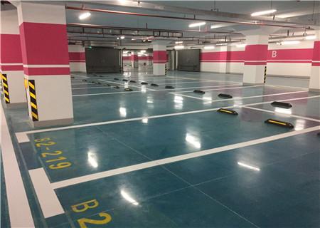 为上海浦电路写字楼地下车库提供耐磨地坪施工