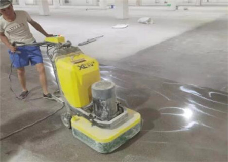 新光药业固化地坪项目施工