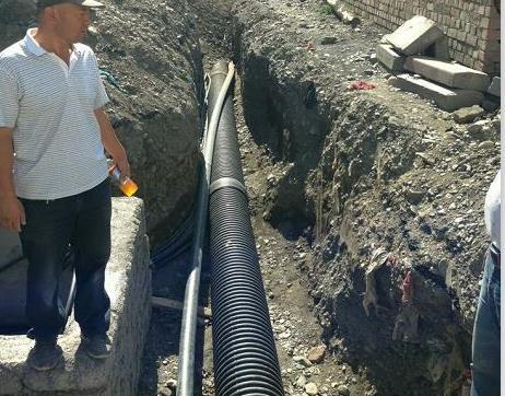 新疆某小区HDPE波纹管工程案例