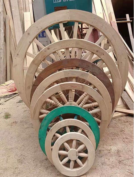 防腐木车轮