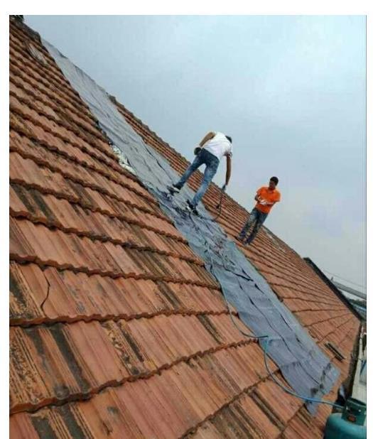 屋面防水堵漏施工案例