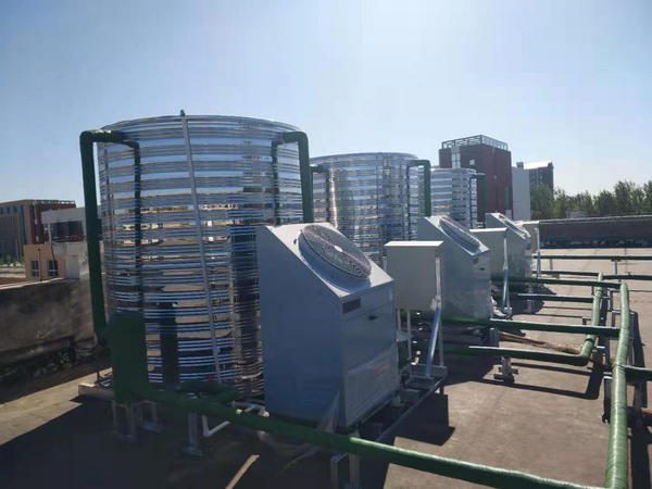 中牟姚家镇初级中学合作河南空气源热泵案例