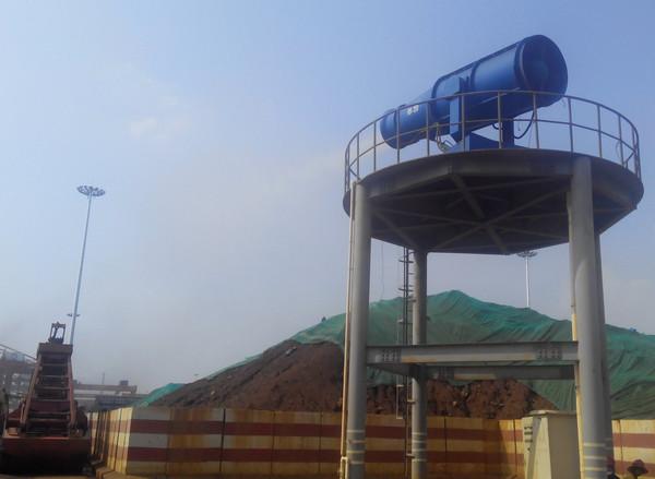 广西钦州口岸无限义务公司喷雾机降尘工程