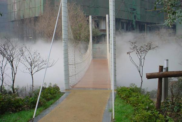 内蒙古景观造雾