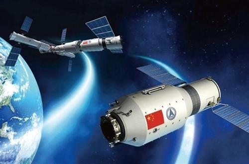 天舟二号货运飞船和空间站交会对接