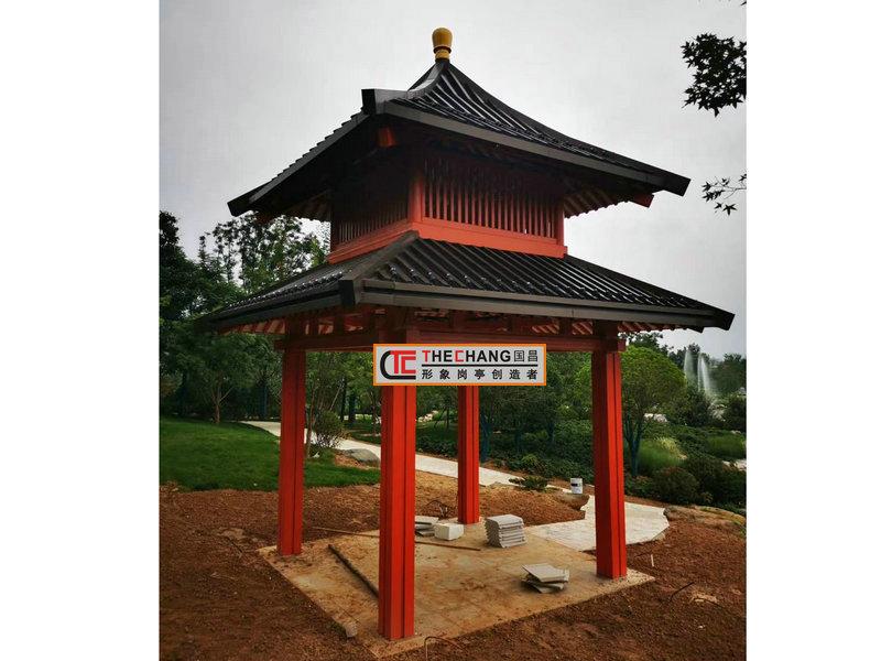 西安公园凉亭完工