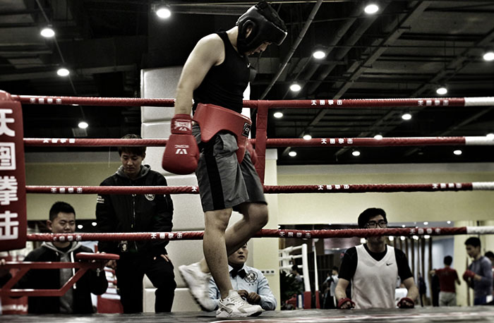 成都拳击培训学员风采