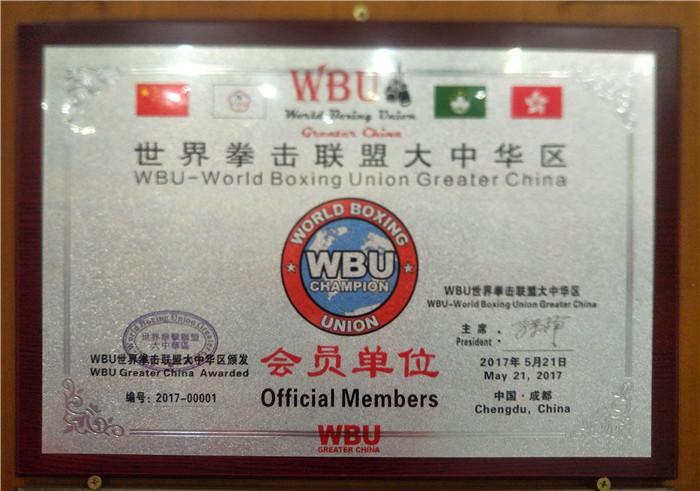 世界拳击联盟的大中华区 WBU 会员单位