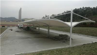 乐山充电桩膜结构车棚