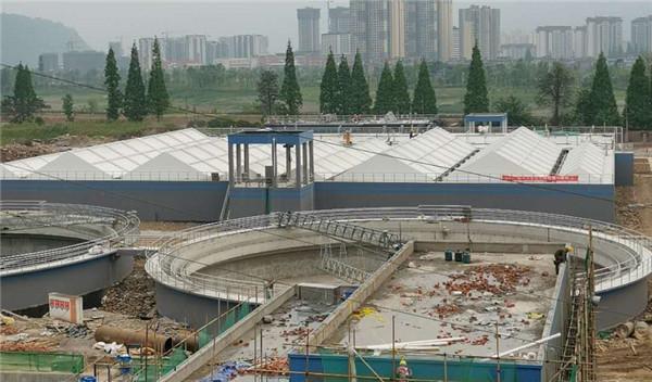 雅安雨城区城市污水处理厂膜结构工程