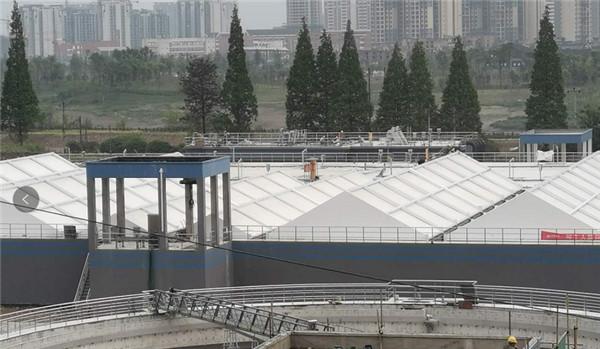 雅安污水处理厂膜结构工程完工