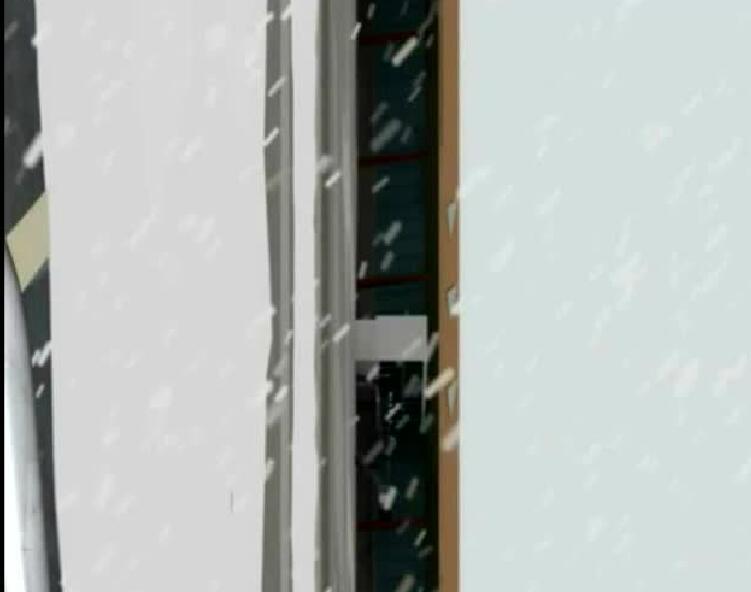 首都机场雪天降落