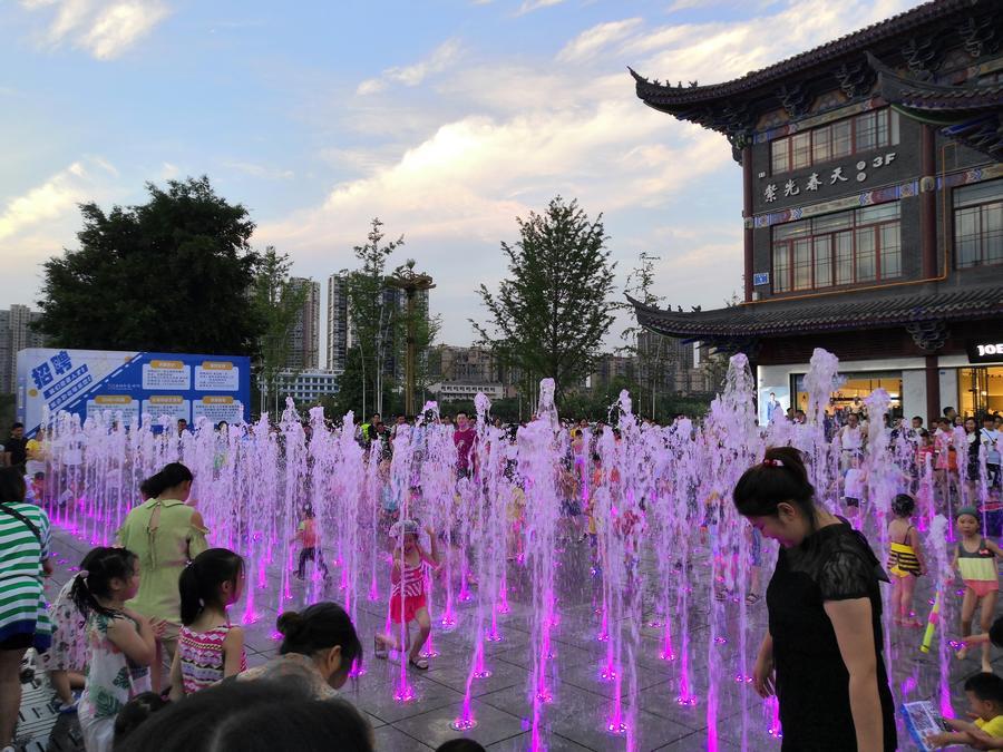 旱地音乐喷泉广场