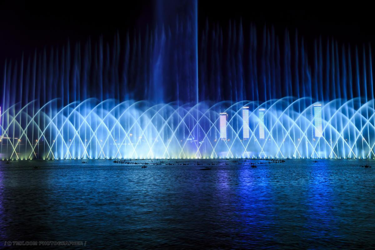 大型湖面音乐喷泉设计