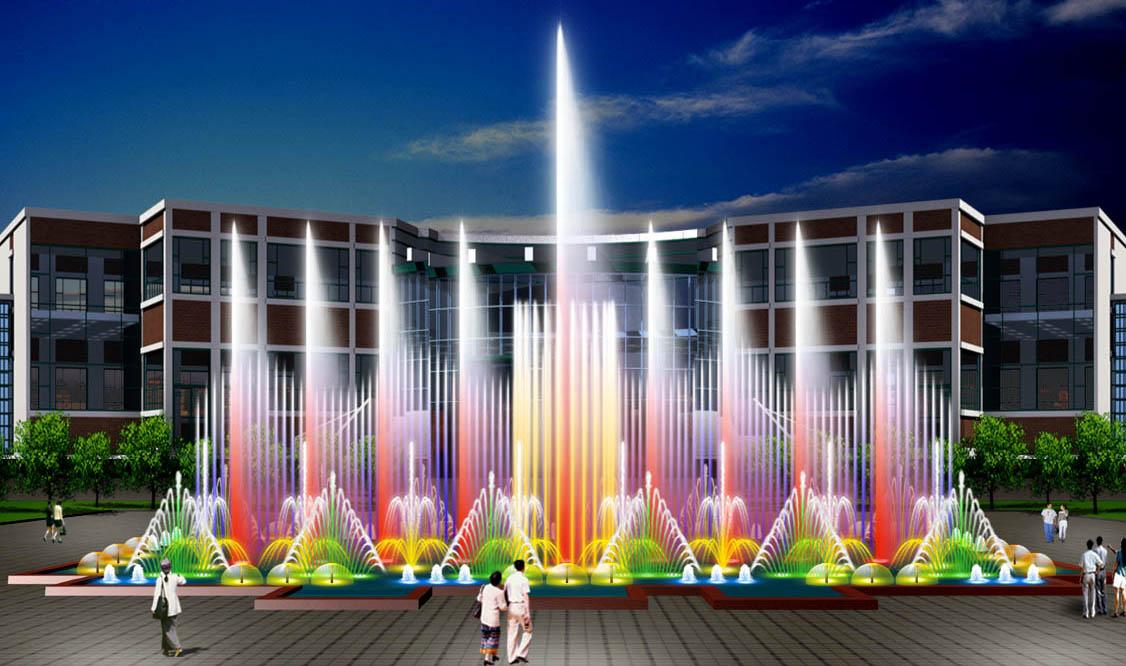 景观喷泉效果图