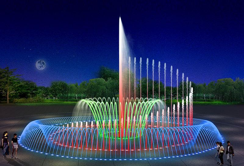 彩色音乐喷泉设备