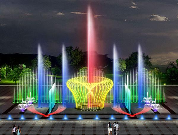 成都旱地音乐喷泉设计公司