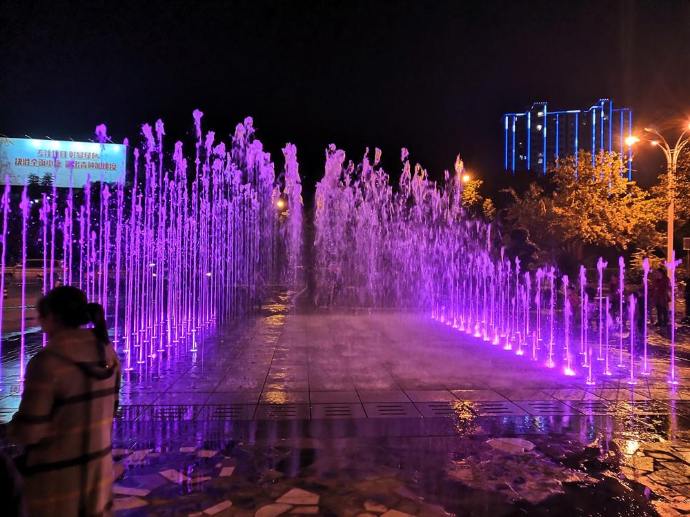 青神县青衣神广场旱地音乐喷泉工程——四川旱地音乐喷泉设计