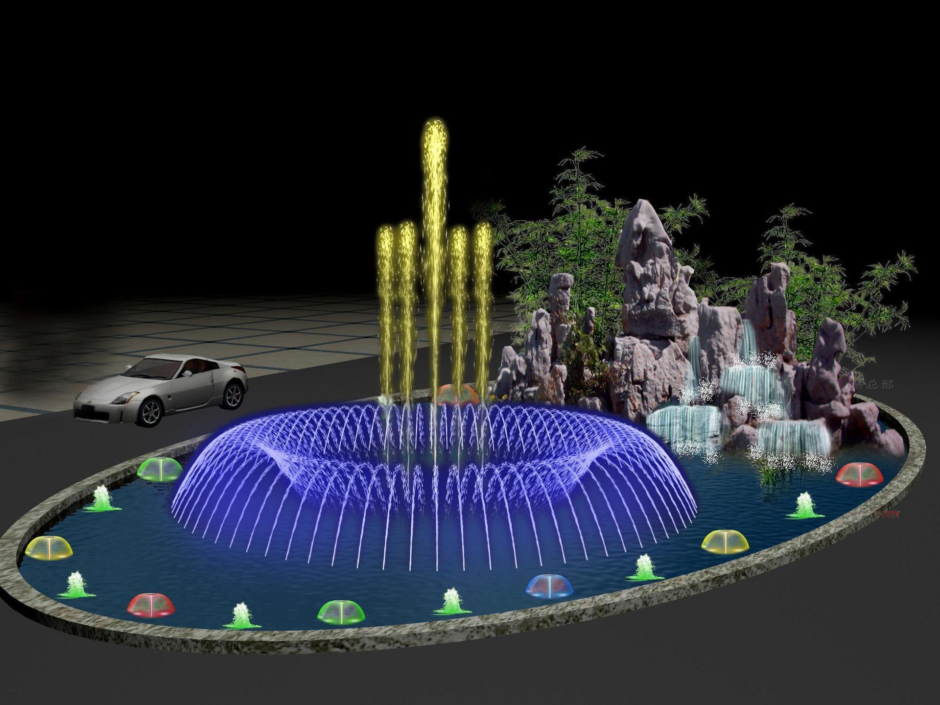 四川水景音乐喷泉设计