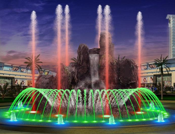 四川喷泉施工介绍光亮跳泉
