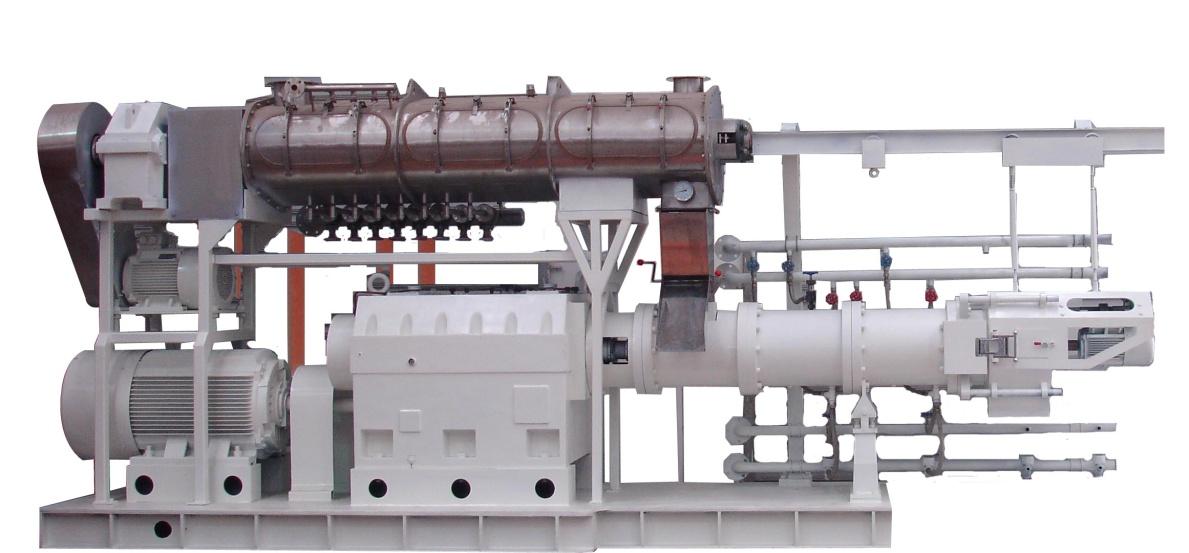 双螺杆膨化机在食品或饲料加工中的作用