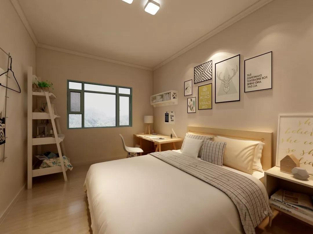 延安家装设计:46m2老破小变身时尚两居室,卫生间竟然还做了干湿分离